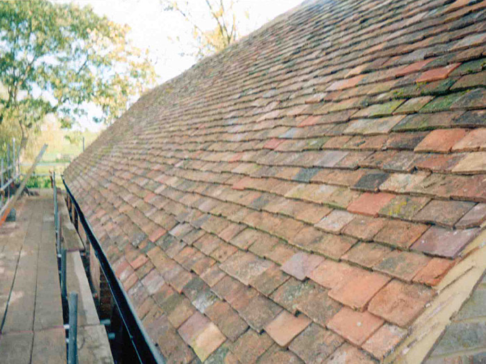 New peg tiled roof to barn conversion