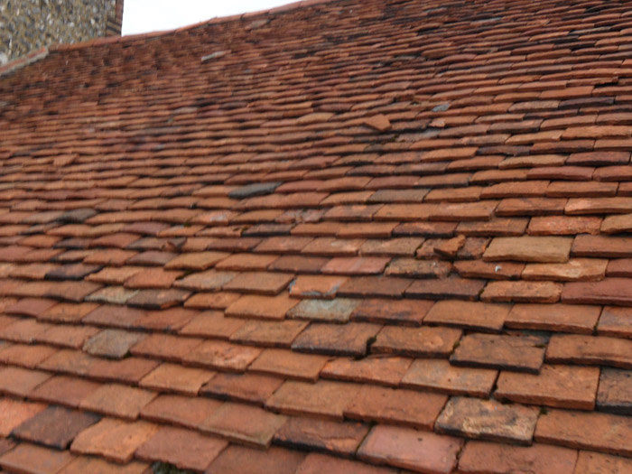 Old peg tile roof, before re-roofing